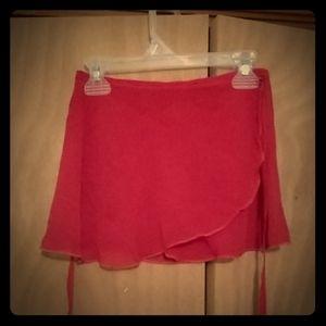 Red Wrap-Around Ballet Skirt